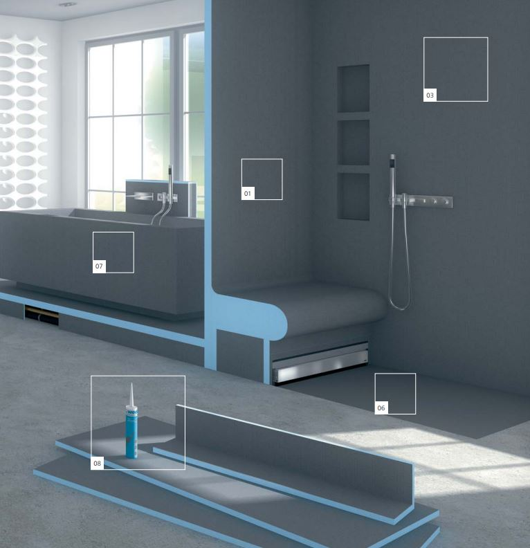 Wedi Bathroom Products Edmonton